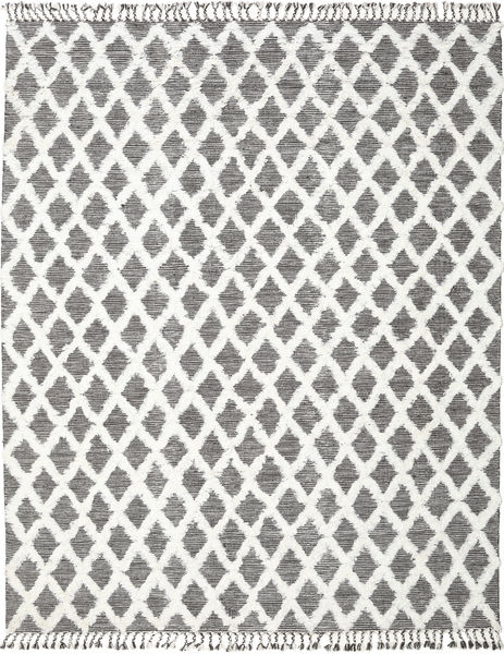 Inez - Ciemnobrązowy/White Dywan 200X300 Nowoczesny Tkany Ręcznie Jasnoszary/Biały/Creme/Beżowy (Wełna, Indie)