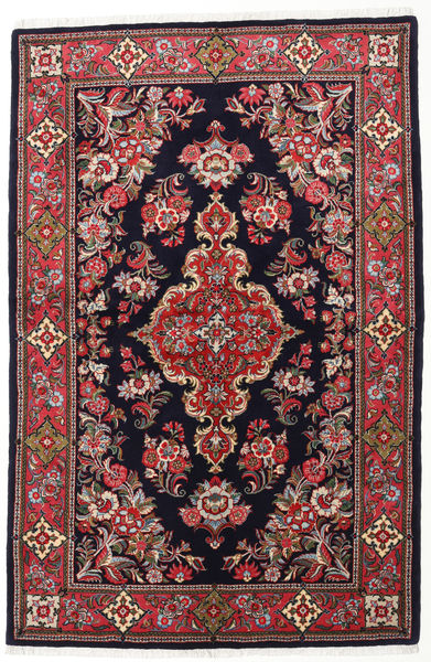 Sarouk Rug 144X218 Authentic  Oriental Handknotted Dark Purple/Brown (Wool, Persia/Iran)