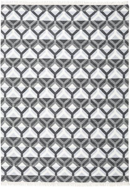 Aino 絨毯 240X340 モダン 手織り ホワイト/クリーム色/紫 (ウール/バンブーシルク, インド)