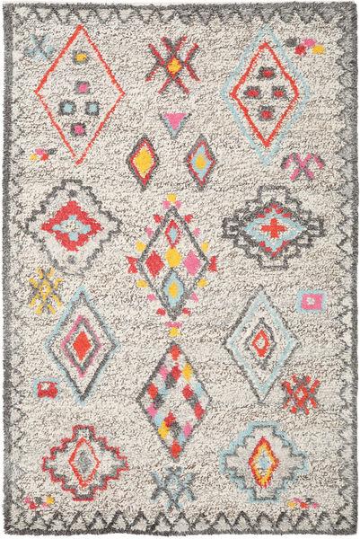 Fatima - Multi Dywan 200X300 Nowoczesny Tkany Ręcznie Jasnoszary/Beżowy (Wełna, Indie)