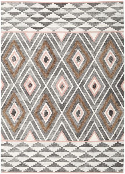 Yllen - Pink Rug 250X350 Authentic  Modern Handwoven Light Grey/Beige Large (Wool, India)