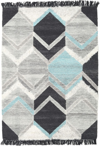Silvana - Teal Rug 140X200 Authentic  Modern Handwoven Light Grey/Beige/Dark Grey (Wool, India)