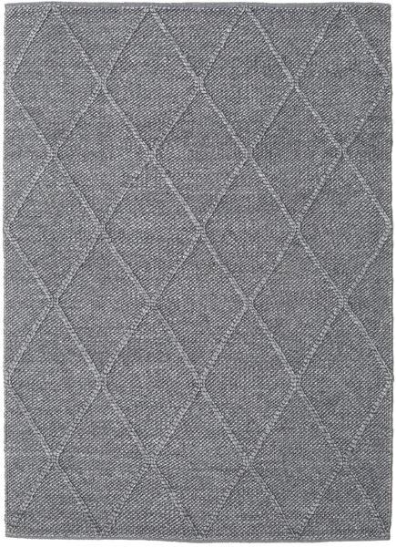 Svea - チャコール 絨毯 140X200 モダン 手織り 濃いグレー/薄紫色 (ウール, インド)