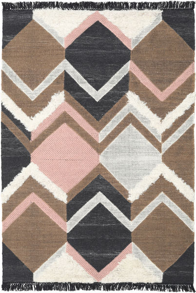 Silvana - Soft Pink Rug 160X230 Authentic  Modern Handwoven Dark Grey/Brown (Wool, India)