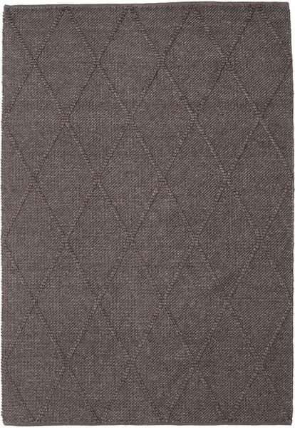 Svea - Dark Brown Rug 160X230 Authentic  Modern Handwoven Dark Grey/Light Grey (Wool, India)