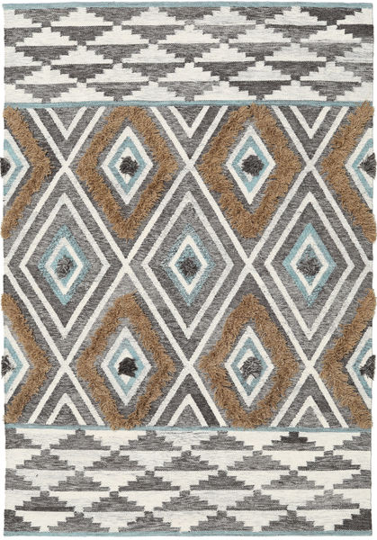Yllen - Teal Rug 160X230 Authentic  Modern Handwoven Light Grey/Dark Beige (Wool, India)