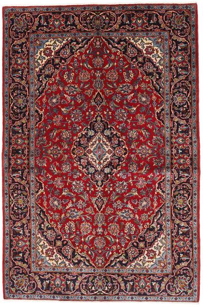 Keshan Tapijt 140X210 Echt Oosters Handgeknoopt Donkerrood/Bruin (Wol, Perzië/Iran)