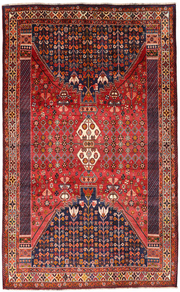 Qashqai Rug 180X290 Authentic  Oriental Handknotted Dark Red/Rust Red (Wool, Persia/Iran)