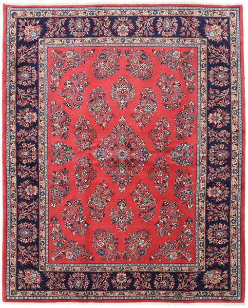 Sarough Matto 200X246 Itämainen Käsinsolmittu Tummanvioletti/Violetti (Villa, Persia/Iran)