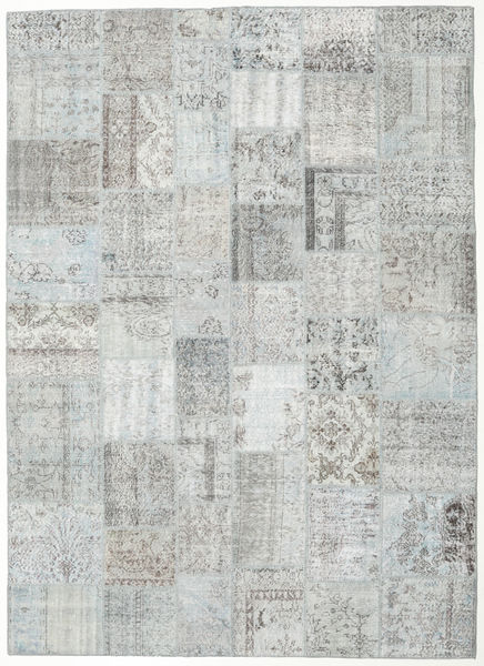 Patchwork Rug 255X353 Authentic  Modern Handknotted Light Grey/Beige Large (Wool, Turkey)
