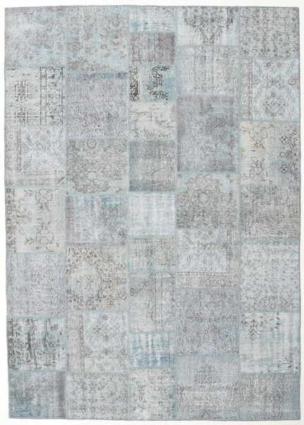 Patchwork Rug 247X350 Authentic  Modern Handknotted Light Grey (Wool, Turkey)
