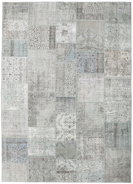Patchwork Rug 250X348 Authentic  Modern Handknotted Light Grey Large (Wool, Turkey)