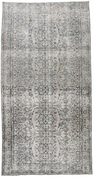 Colored Vintage Rug 145X277 Authentic  Modern Handknotted Light Grey/Dark Grey (Wool, Turkey)
