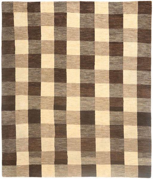Loribaft Persia Rug 255X308 Authentic  Modern Handknotted Light Brown/Dark Brown Large (Wool, Persia/Iran)