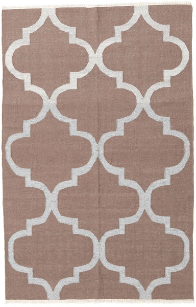 Kilim Rug 156X240 Authentic  Modern Handwoven Light Brown/Light Grey (Wool, India)