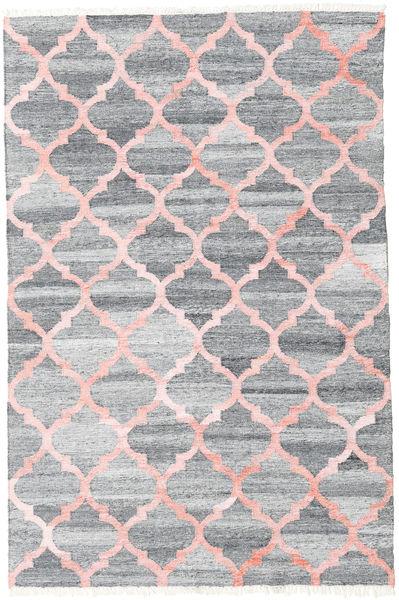 Pet Yarn Kelim Teppe 160X230 Ekte Moderne Håndvevd Lys Grå/Lyserosa ( India)
