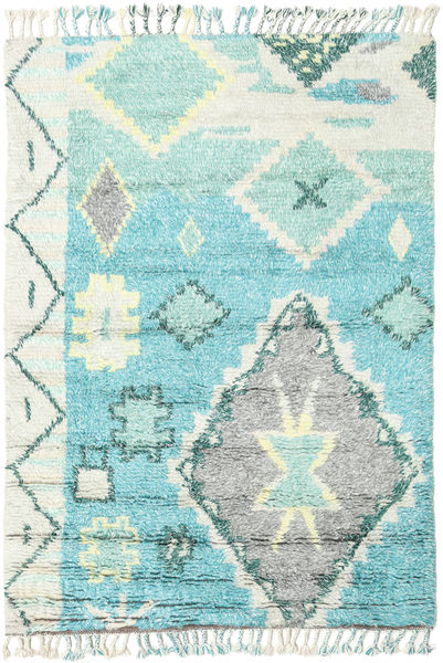 Odda - Turquoise Rug 160X230 Authentic  Modern Handknotted Beige/Light Blue (Wool, India)