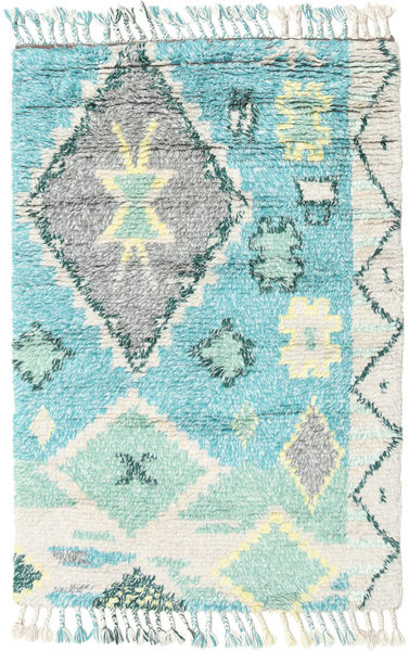 Odda - Turquoise Rug 120X180 Authentic  Modern Handknotted Beige/Turquoise Blue (Wool, India)