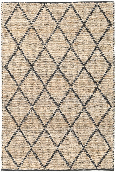 Serena Jute - Natural/Black Rug 120X180 Authentic  Modern Handwoven Light Brown/Beige ( India)