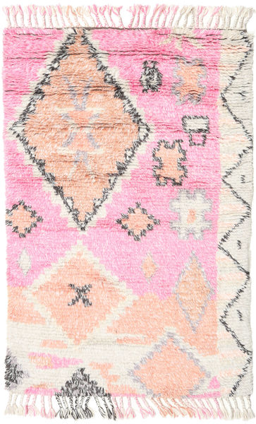 Odda - Pink Rug 120X180 Authentic  Modern Handknotted Light Pink/Beige (Wool, India)