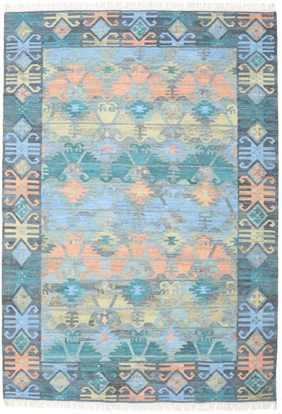 Azteca - Azul Multi Tapete 240X340 Moderno Tecidos À Mão Azul Claro/Cinzento Claro (Lã, Índia)