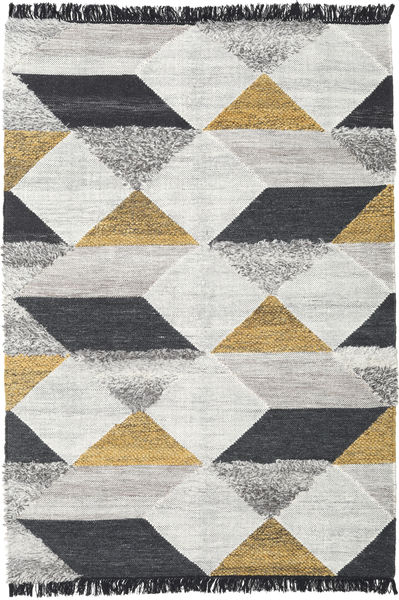 Isha - Gold Rug 160X230 Authentic  Modern Handwoven Light Grey/Dark Grey/Beige (Wool, India)