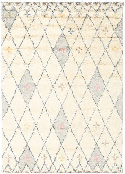 Hatsya - Valkoinen Matto 170X240 Moderni Käsinsolmittu Beige/Tummanbeige (Villa, Intia)