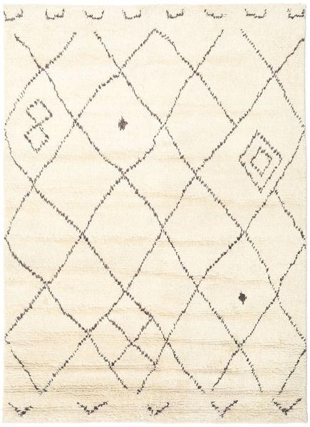 Almaaz - Hvid Tæppe 170X240 Ægte Moderne Håndknyttet Beige/Hvid/Creme (Uld, Indien)
