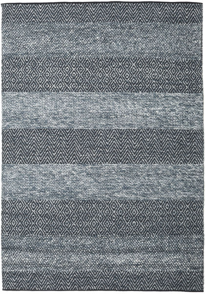 Folke - Denim Blue Rug 160X230 Authentic  Modern Handwoven Dark Grey/Light Blue (Wool, India)