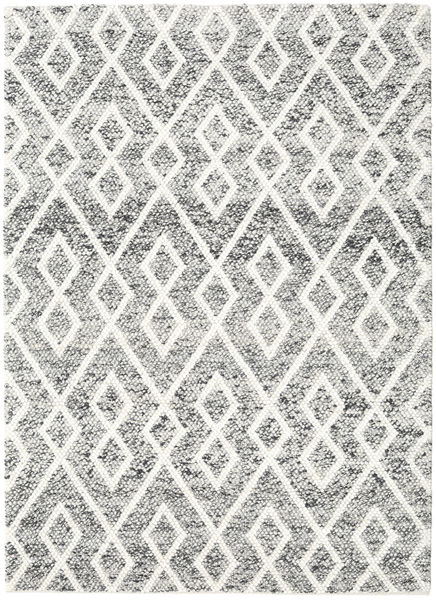 Hudson - Melange Zwart Tapijt 170X240 Modern Beige/Lichtgrijs (Wol, India)
