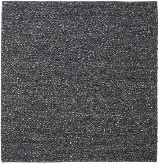Bubbles - Melange Black Rug 250X250 Modern Square Dark Grey Large (Wool, India)