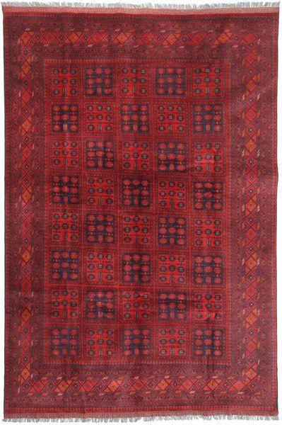Afghan Khal Mohammadi Matto 194X296 Itämainen Käsinsolmittu Tummanpunainen/Punainen (Villa, Afganistan)