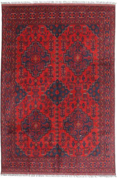 Afghan Khal Mohammadi Matto 197X292 Itämainen Käsinsolmittu Tummanpunainen/Punainen (Villa, Afganistan)