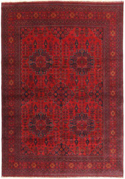 Afghan Khal Mohammadi Matto 201X290 Itämainen Käsinsolmittu Tummanpunainen (Villa, Afganistan)