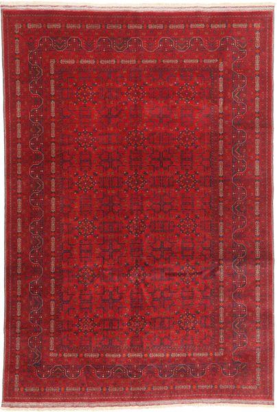 Afghan Khal Mohammadi Matto 197X290 Itämainen Käsinsolmittu Tummanpunainen/Punainen (Villa, Afganistan)