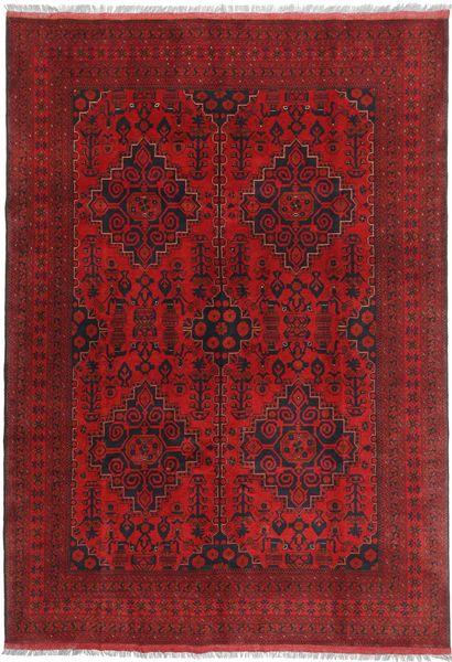 Afghan Khal Mohammadi Matto 201X287 Itämainen Käsinsolmittu Tummanpunainen/Punainen (Villa, Afganistan)