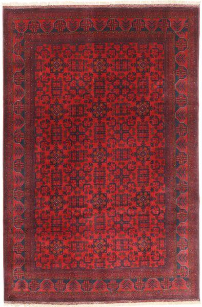 Afghan Khal Mohammadi Vloerkleed 197X294 Echt Oosters Handgeknoopt Donkerrood/Rood (Wol, Afghanistan)