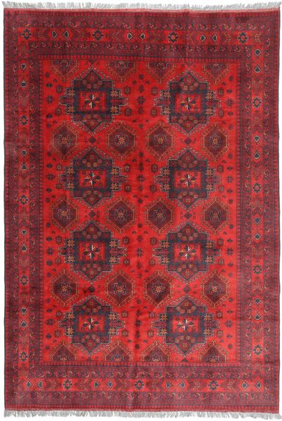 Afghan Khal Mohammadi Rug 198X291 Authentic  Oriental Handknotted Dark Red/Crimson Red (Wool, Afghanistan)