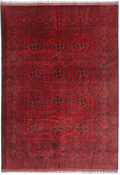 Afghan Khal Mohammadi Matto 206X290 Itämainen Käsinsolmittu Tummanpunainen/Punainen (Villa, Afganistan)