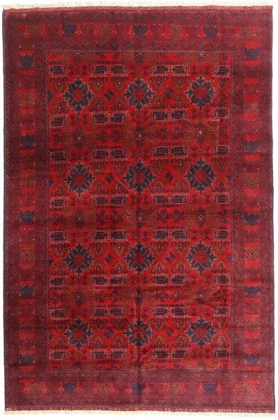 Afghan Khal Mohammadi Matto 198X292 Itämainen Käsinsolmittu Tummanpunainen/Punainen (Villa, Afganistan)