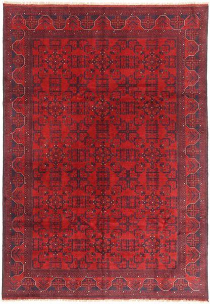 Afghan Khal Mohammadi Matta 198X289 Äkta Orientalisk Handknuten Mörkröd/Röd (Ull, Afghanistan)