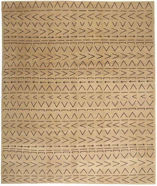 Loribaft Persia Matto 308X375 Moderni Käsinsolmittu Vaaleanruskea/Tummanbeige Isot (Villa, Persia/Iran)