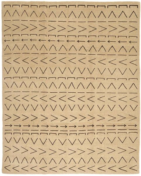 Loribaft Persisk Matta 232X287 Äkta Modern Handknuten Mörkbeige/Ljusbrun (Ull, Persien/Iran)