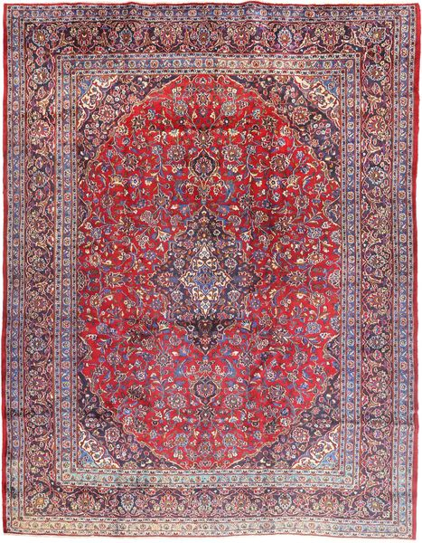 Mashad Rug 300X390 Authentic  Oriental Handknotted Light Purple/Dark Purple Large (Wool, Persia/Iran)