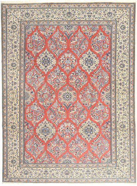 Nain 9La Tæppe 248X333 Ægte Orientalsk Håndknyttet Lyserød/Lysebrun (Uld/Silke, Persien/Iran)