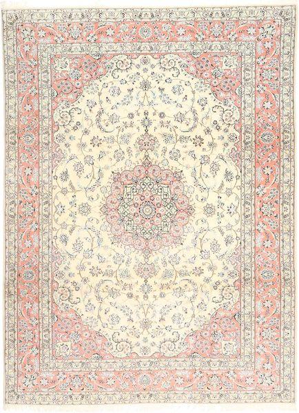 Nain 9La Alfombra 248X344 Oriental Hecha A Mano Beige/Marrón Claro (Lana/Seda, Persia/Irán)