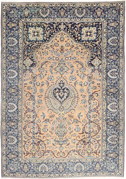 Naïn 9La Tapis 244X353 D'orient Fait Main Gris Clair/Gris Foncé/Marron Clair (Laine/Soie, Perse/Iran)