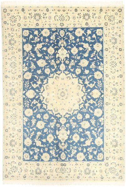 Nain 9La Matto 166X247 Itämainen Käsinsolmittu Beige/Sininen (Villa/Silkki, Persia/Iran)