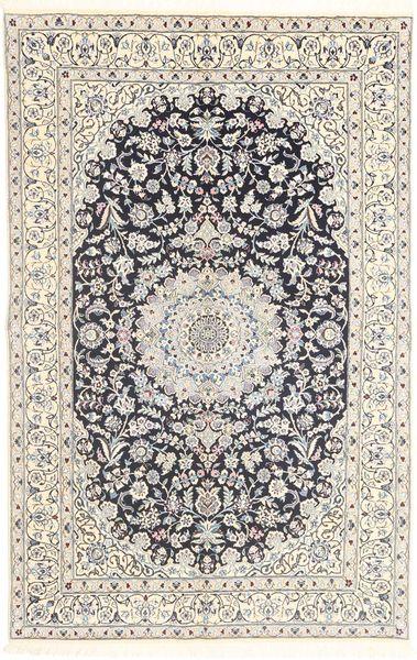 Nain 9La Alfombra 158X243 Oriental Hecha A Mano Gris Claro/Beige (Lana/Seda, Persia/Irán)