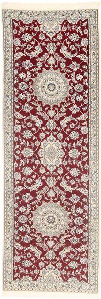 Nain 9La Matto 95X283 Itämainen Käsinsolmittu Käytävämatto Vaaleanpunainen/Tummanpunainen (Villa/Silkki, Persia/Iran)